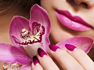 112179 twarz kobiety makijaz storczyki 300x225 Mowa kwiatów