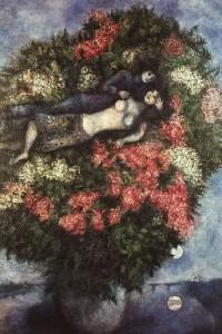 Marc Chagall Kochankowie w bzie 200x300 Długi dalekie i małe