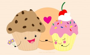 Muffin Loves Cupcake by LillyKitten 300x185 Muffin a cupcake