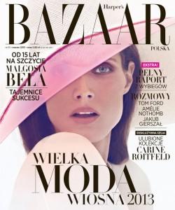 malgosia bela harpers bazaar okladka1 250x300 Małgorzata Bela na okładce Harper's Bazaar Polska