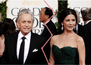 Michael Douglas and Catherine Zeta Jones to divorce rumors 300x215 Moda na rozwod
