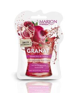 web Maseczka GRANAT FITFRESH 250x300 Soczyste maseczki do twarzy z serii Marion Fit&Fresh. Odżywiona cera w doskonałej kondycji
