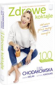 Zdrowe koktajle 3D small 194x300 Ewa Chodakowska miksuje! 100 przepisów na zdrowe, smaczne i energetyczne koktajle