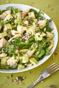 Bakalland Sałatka zielona 100 200x300 Zielone sałatki z bakaliami