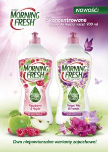 KV Morning Fresh nowe zapachy 214x300 Morning Fresh   Sweet Pea & Freesia oraz Raspberry & Apple Nowe, skoncentrowane płyny do mycia naczyń