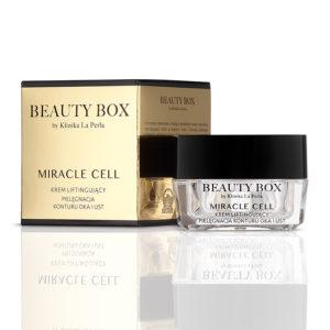 MIRACLE CELL liftingujący krem do pielęgnacji konturu oka i ust Beauty Box by Klinika La Perla 300x300 Jak zatrzymać młodość skóry wokół oczu i ust?