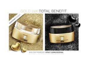 Walentynki kobieta gold 24 k 300x212 Dermika Gold24K Total Benefit