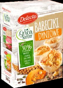 Delecta Babeczki dyniowe 215x300 Babeczki dyniowe z Serca Natury Delecta   na jesień i nie tylko