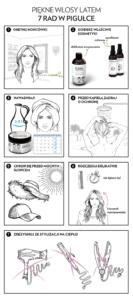 Włosy latem Infografika 03.07 133x300 7 elementów prawidłowej pielęgnacji włosów latem