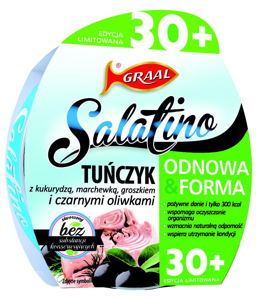 GRAAL Salatino 30 Tunczyk z czarnymi oliwkami 876x1024 Salatino wprowadza innowacyjną linię sałatek